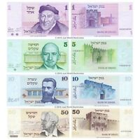Israel 1 + 5 + 10 + 50 Sheqalim  1978 Set of 4 Banknotes 4 PCS UNC