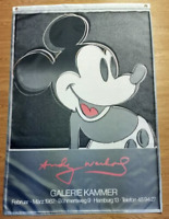 Andy Warhol Galerie Kammer 1982  Exhibition Poster 150x90cm 3x5ft Mickey Mouse
