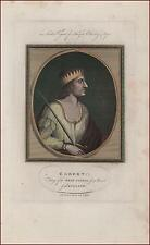 EGBERT King of Wessex England, Fine hand colored engraving, original 1786