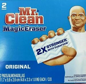 Mr. Clean MAGIC ERASER 2pk Multi Puropse Cleaning Sponges Kitchen Bathroom 43515
