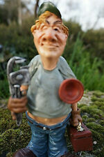 815.1806  FIGURINE METIER CARICATURE PLOMBIER  COLLECTION HUMOUR CHAUFFAGISTE
