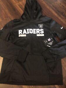New Nike Oakland Raiders Youth NFL Football Sweatshirt Size Kids XL Black White