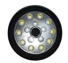 Torcia Luce Ruota 15 Led Bianchi Rossi Con Base Magnetica Linq