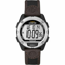 "Timex T49948, Men's ""Expedition"" Nylon/Leather Watch, Indiglo, Alarm, T499489J"