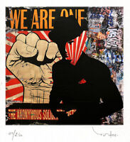 TABLEAU ART CONTEMPORAIN We are. one TEHOS serie limitee 250 ex street art