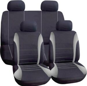 Grey Car Cloth Seat Cover Full Washable For Ford Focus Fusion Galaxy Ikon S-Max