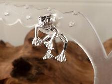 Ohrringe 925 Silber Ohrstecker Frosch zweiteilig NEU