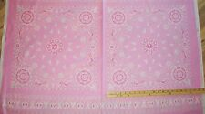 Project Pink Ribbon Bandanna Breast Cancer Survivor Windham Fabric Panel #36406P