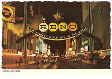 ctn RENO ENTRANCE ARCH Nevada NV Nevada NIGHT Main Street View VINTAGE Photo PC