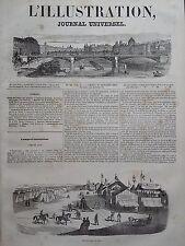 L' ILLUSTRATION 1843 N 33 LE CANPS D'INSTRUCTION MILITAIRE DE LYON