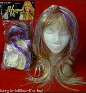 LONG BLONDE SHOULDER LENGTH WIG FANCY DRESS HANNAH MONTANA POP STAR LADY GAGA