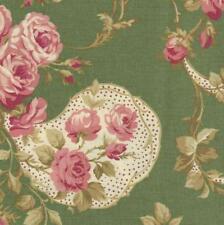 RJR Robyn Pandolph Bowood House Green Floral Shabby Rose Fabric Christmas 0067-2