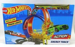 NIB Mattel Hot Wheels Energy Track Toy Playset With Cars Factory Sealed Box 2017