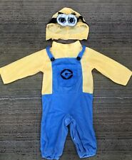 Rubies Despicable Me MINION Infant Costume - Jumpsuit & Headpiece Size 12-18 M
