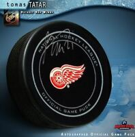 TOMAS TATAR Signed Detroit Red Wings Official Game Puck