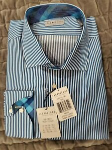 Jack Stone by Thomas Dean Long Sleeve Flip Cuff Dress Shirt Size XXL NWT