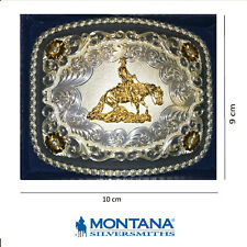 Fibbia buckle western country cowboy Reining Sterlig Silver Montana Silvermiths