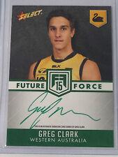 2015 Select AFL Future Force GREEN Signature Greg Clark FFGS34 38/40