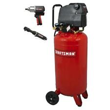 Craftsman 26 Gallon 1.5 HP Air Compressor 150 Max PSI w/ Impact Wrench & Ratchet