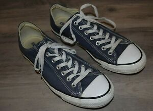 Converse Chuck Taylor All Star Low Top Sneakers Navy Men's Sz 9 Woman's Size 11