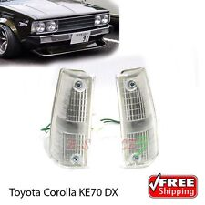 NEW Corner Indicator Lamp Lights For Toyota Corolla Dx KE70 E70 TE71 79-83 Pairs
