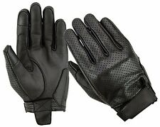 Air Vented Summer Touchscreen Motorbike Motorcycle Gloves Leather CE Knuckle M