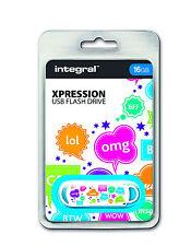 Integral Xpression 16GB USB 2.0 Flash Drive USB Memory Stick Cool Text Design