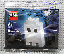 NEW Lego WHITE HALLOWEEN GHOST Figure 2010 Set 40013 Sealed Polybag 18 Pcs NISB