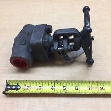 """OMB 810 gate valve 1"""" butt weld class 800 psi 1975 Body A105"""