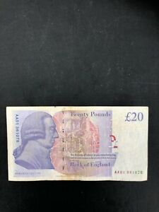 AA01 FIRST RUN BAILLY £20 PAPER ISSUE 2003 RARE SERIAL