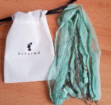 Bcharmd Resort Chain Fringe Scarf, Aqua, BNIP