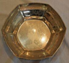 Antique Tiffany & Co. Art Deco & Hexagonal Sterling Silver Bowl