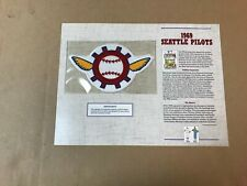 MLB COOPERSTOWN COLLECTION 1969 SEATTLE PILOTS PATCH