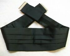 Cummerbund MENS Broad Sash Adjustable PLEATED Classic Black