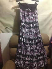 HOT OPTIONS BEADED MAXI STRAPLESS   DRESS SZ  10 FREE POSTAGE (d48)