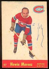 1955-56 PARKHURST HOCKEY QUAKER OATS #57 HOWIE MORENZ OTG VG MONTREAL CANADIENS