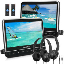 "2*10.1"" Auto Fernseher Monitor Kopfstütze DVD Player HDMI AV-IN OUT SD+Kopfhörer"
