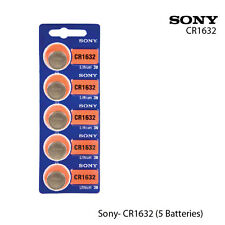 SONY CR1632 3 Volt Lithium Coin Battery Fresh (5 Batteries)