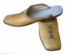 Men Slippers Traditional Camel Handmade Clogs Shoes Leather Khussa Jutti US 6