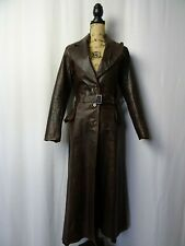 Women's Vintage 1970's Leather Trench Coat Jacket Size 8