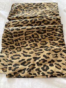 1 RALPH LAUREN ARAGON Vintage Leopard Cheetah King Size Pillowcase