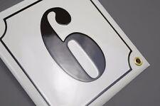 Hausnummer Hausnummernschild Emaille 15x15 cm mit Wunschnummer Premiumqualität