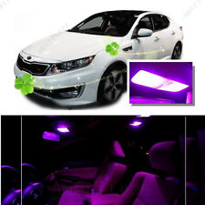 For Kia Optima w/ sunroof 2011-15 Pink LED Interior Kit + Pink License Light LED