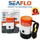 SEAFLO 500GPH 12v Boat Bilge Pump - Water Marine Submersible 12 Volt Kit photo