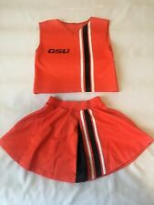 Third Street Vintage Oregon State Beavers Girls Cheerleader Outfit Size YL 14~16