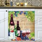 Kitchen Dishwasher Magnet - Rustic Winery with Wine Bottles, Fruit and Cheese #2