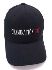 OBAMINATION '08 black flexfit fitted cap / hat - wool blend size S / M