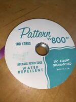 """AFMC Vintage PATTERN """"800"""" RIBBON Fuchsia ACETATE Fused Edge  Used P4"""