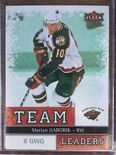 2008-09 Ultra #TL15 Marian Gaborik Team Leaders Minnesota Wild MINT