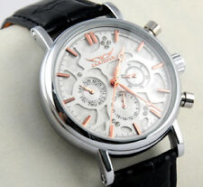 Multifunction Date Genuine Leather Automatic Mechanical Men's Luxury Wrist Watch